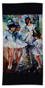 Young Ballerinas Beach Towel