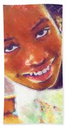 Young Black Female Teen 5 Beach Towel