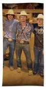 Young Bull Riders Portrait Beach Towel