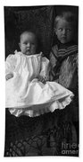 Young Ernest Lawrence And Brother, 1904 Beach Towel