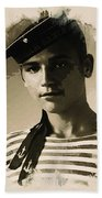 Young Faces From The Past Series By Adam Asar - Asar Studios, No 1 Beach Towel