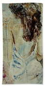 Young Girl  64 Beach Towel
