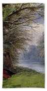Young Ladies By A River Beach Towel