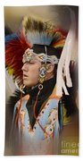 Pow Wow Young Man Beach Towel