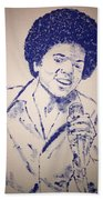 Young Michael Jackson Beach Towel