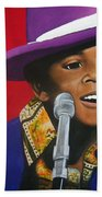 Young Michael Jackson Singing Beach Towel