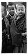 Young Monks II Bw Beach Towel