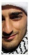 Young Palestinian Man Beach Towel