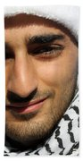 Young Palestinian Man Beach Sheet