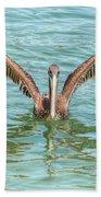 Young Pelican 0087 Beach Towel