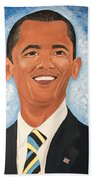 Young President Obama Beach Towel