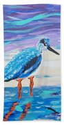 Young Seagull Coastal Abstract Beach Towel