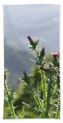 Young Thistles Beach Towel