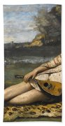 Young Women Of Sparta By Jean-baptiste-camille Corot, 1868-1870. Beach Towel