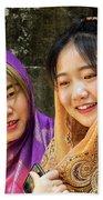 Young Women Silk Scarves 01 Beach Towel
