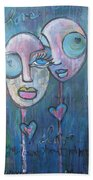 Your Haunted Heart And Me Beach Towel