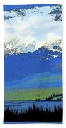 Yukon Mountain Range 3 Beach Towel