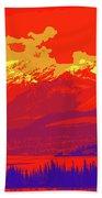 Yukon Mountain Range 4 Beach Towel