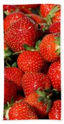 Yummy Fresh Strawberries Beach Towel
