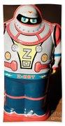 Z-bot Robot Toy Beach Towel