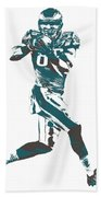 Zach Ertz Philadelphia Eagles Pixel Art 1 Beach Towel