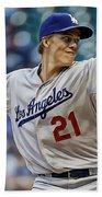Zack Greinke Los Angeles Dodgers Beach Towel