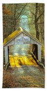 Zacke Cox Covered Bridge Beach Towel