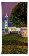 Zadar Historic Square Evening View Beach Towel
