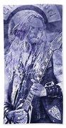 Zakk Wylde - Watercolor 06 Beach Towel