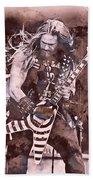 Zakk Wylde - Watercolor 08 Beach Towel