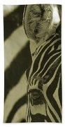 Zebra Close Up A Beach Towel