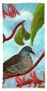 Zebra Doves Or Barred Dove Birds #309 Beach Sheet