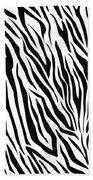 Zebra  Beach Towel