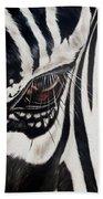 Zebra Eye Beach Towel