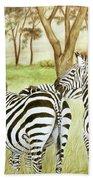 Zebra Pals Beach Towel