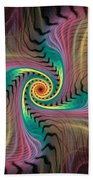 Zebra Spiral Affect Beach Towel