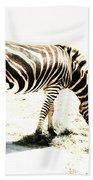 Zebra Stripes Beach Towel