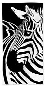 Zebra Works Beach Towel