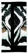 Zebras Eye - Studio Abstract  Beach Towel