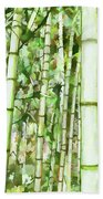 Zen Bamboo Forest Beach Towel