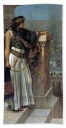 Zenobia's Last Look On Palmyra Beach Towel by Herbert Gustave Schmalz