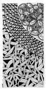 Zentangle Inspired Design Beach Towel