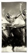 Ziegfeld Model  Dancers By Alfred Cheney Johnston Black And White Ballet Beach Towel