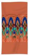 Zig Zag Pattern On Orange Beach Towel