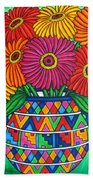 Zinnia Fiesta Beach Towel