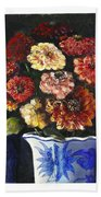 Zinnias Beach Towel