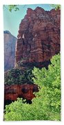 Zion Canyon Red Cliffs Beach Towel
