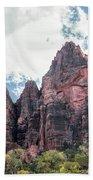 Zion Canyon Terrain Beach Towel
