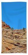 Zion Checkerboard Formations Beach Towel