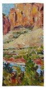 Zion Mountain Cliff Beach Towel